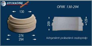 Kültéri polisztirol oszloptalp, oszlopláb, OFKK 130/294