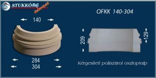 Kültéri polisztirol oszloptalp, oszlopláb, OFKK 140/304