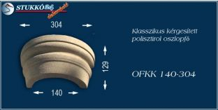 Kérgesített polisztirol oszlopfő klasszikus OFKK 140/304