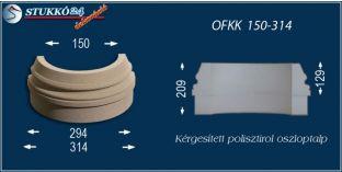 Kültéri polisztirol oszloptalp, oszlopláb, OFKK 150/314
