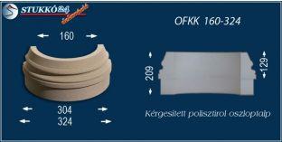 Kültéri polisztirol oszloptalp, oszlopláb, OFKK 160/324