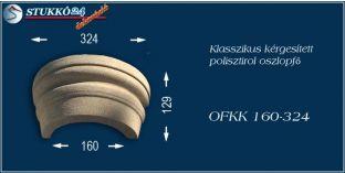 Kérgesített polisztirol oszlopfő klasszikus OFKK 160/324