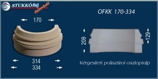 Kültéri polisztirol oszloptalp, oszlopláb, OFKK 170/334