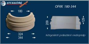 Kültéri polisztirol oszloptalp, oszlopláb, OFKK 180/344