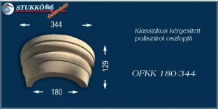 Kérgesített polisztirol oszlopfő klasszikus OFKK 180/344