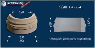 Kültéri polisztirol oszloptalp, oszlopláb, OFKK 190/354