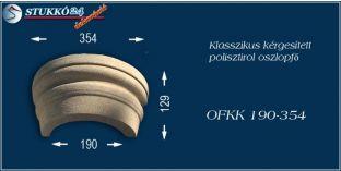 Kérgesített polisztirol oszlopfő klasszikus OFKK 190/354
