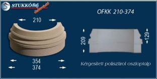 Kültéri polisztirol oszloptalp, oszlopláb, OFKK 210/374