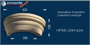 Kérgesített polisztirol oszlopfő klasszikus OFKK 260/424