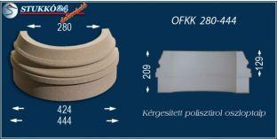 Kültéri polisztirol oszloptalp, oszlopláb, OFKK 280/444
