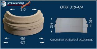 Kültéri polisztirol oszloptalp, oszlopláb, OFKK 310/474
