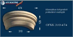 Kérgesített polisztirol oszlopfő klasszikus OFKK 310/474