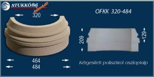 Kültéri polisztirol oszloptalp, oszlopláb, OFKK 320/484