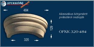 Kérgesített polisztirol oszlopfő klasszikus OFKK 320/484