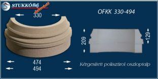 Kültéri polisztirol oszloptalp, oszlopláb, OFKK 330/494