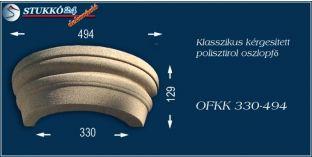 Kérgesített polisztirol oszlopfő klasszikus OFKK 330/494