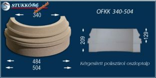 Kültéri polisztirol oszloptalp, oszlopláb, OFKK 340/504