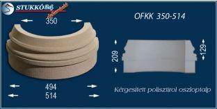 Kültéri polisztirol oszloptalp, oszlopláb, OFKK 350/514