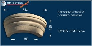Kérgesített polisztirol oszlopfő klasszikus OFKK 350/514