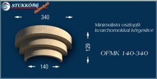 Minimalista polisztirol oszlopfő kvarchomok burkolattal OFMK 140/340