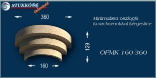 Minimalista polisztirol oszlopfő kvarchomok burkolattal OFMK 160/360
