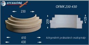 Kérgesített polisztirol oszlopláb, oszloptalp, OFMK 230/430