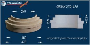 Kérgesített polisztirol oszlopláb, oszloptalp, OFMK 270/470