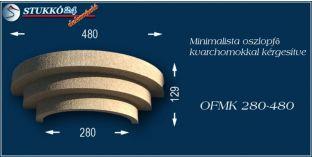 Minimalista polisztirol oszlopfő kvarchomok burkolattal OFMK 280/480