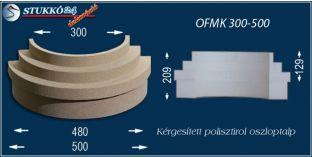 Kérgesített polisztirol oszlopláb, oszloptalp, OFMK 300/500