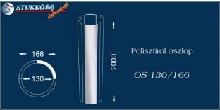 Sima felületű polisztirol oszloptest OS 130/166