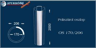 Sima felületű polisztirol oszloptest OS 170/206