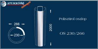 Sima felületű polisztirol oszloptest OS 230/266