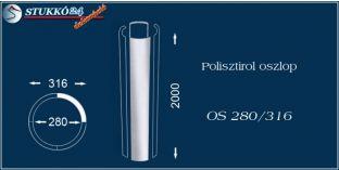 Sima felületű polisztirol oszloptest OS 280/316