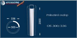 Sima felületű polisztirol oszloptest OS 300/336