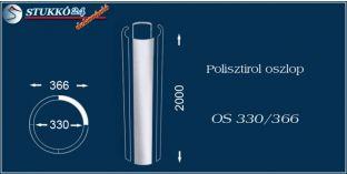 Sima felületű polisztirol oszloptest OS 330/366