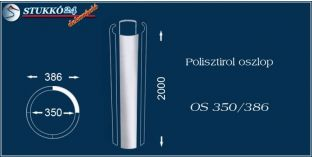Sima felületű polisztirol oszloptest OS 350/386