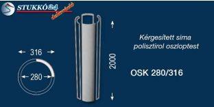 Sima polisztirol oszloptest kérgesítve OSK 280/316