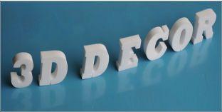 Habbetű, házszám, 3D felirat, betű dekoráció, Magasság: 25 cm, Vastagság: 2 cm