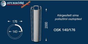 Sima polisztirol oszloptest kérgesítve OSK 140/176