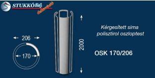 Sima polisztirol oszloptest kérgesítve OSK 170/206