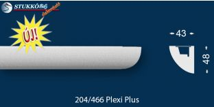 Stukkó díszléc indirekt világítással Kecskemét 204 Plexi Plus