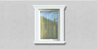 57. Kültéri stukkó dekorációs ötletek: stukkó díszléc, mint ablak dekoráció, ajtó díszítés