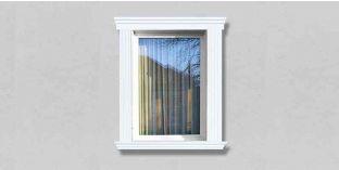 50. Kültéri stukkó dekorációs ötletek: Stukkó díszlécek ablakdíszként, ajtódíszként