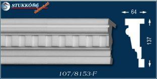 Szolnok 107-F kültéri stukkó, hungarocell díszléc