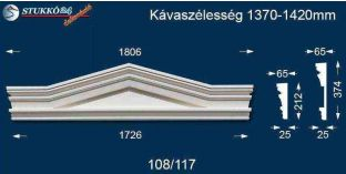 Timpanon, ablakdísz 108/117 1370-1420