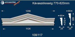 Timpanon, ablakdísz 108/117 770-820
