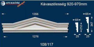 Timpanon, ablakdísz 108/117 920-970