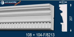 Visegrád 108+104-F-8213 kérgesített homlokzat dekoráció, kültéri díszléc
