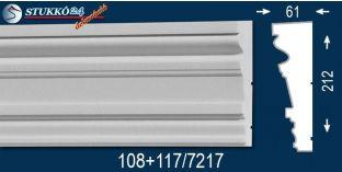 Visegrád 108 + 117-7217 kérgesített homlokzat dekoráció, kültéri díszléc