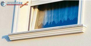 Győr 105 kérgesített ablakpárkány, kültéri stukkó